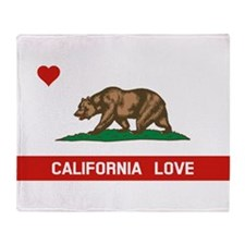 Cute I love california Throw Blanket