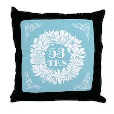 53rd Anniversary Wreath Throw Pillow
