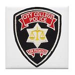 SF City College Police Tile Coaster