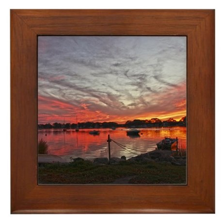 Salt Pond #3 Framed Tile