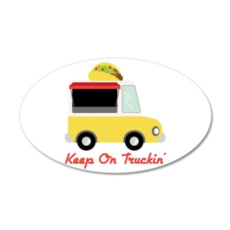 Keep On Truckin Wall Decal
