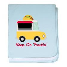 Keep On Truckin baby blanket