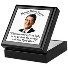 Ronald Reagan Govt's Duty Keepsake Box