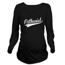Nathaniel, Retro, Long Sleeve Maternity T-Shirt