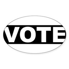 VOTE Oval Decal