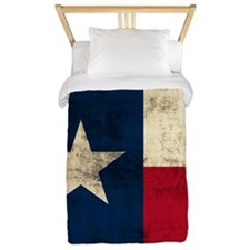 Grunge Texas Flag Twin Duvet