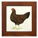 Partridge Chantecler Hen Framed Tile
