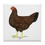 Partridge Chantecler Hen Tile Coaster