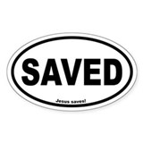 Saved Oval Decal