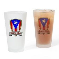 Puerto Rico - Shield2 Drinking Glass