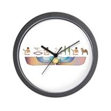 Buhund Hieroglyphs Wall Clock