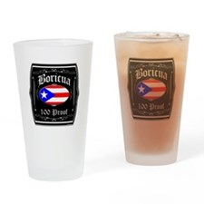 Boricua 100 Proof Drinking Glass