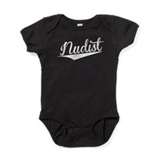 Nudist, Retro, Baby Bodysuit