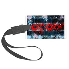 Chicago Flag Spray Paint Art Luggage Tag