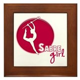 Sabre Girl Framed Tile
