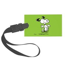 Dancing Dog Large Luggage Tag