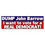 Democrat John Barrow Bumper Sticker