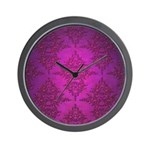 Vibrant Elegant Pink and Purple Damask Pattern Wal