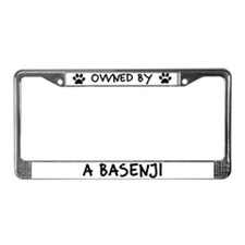 Owned by a Basenji License Plate Frame