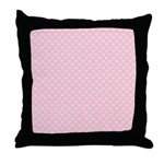 Pink and White Floral Damask Throw Pillow