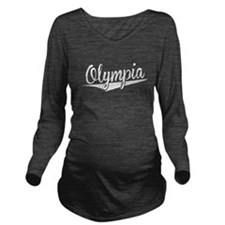 Olympia, Retro, Long Sleeve Maternity T-Shirt