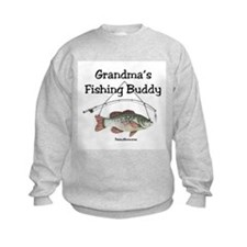 FISHING WITH GRANDMA Sweatshirt