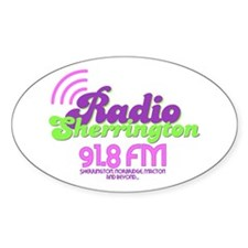 Radio Sherrington Oval Decal