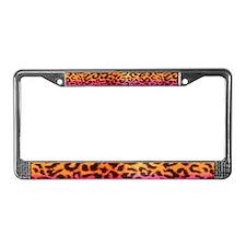 Rainbow Cheetah License Plate Frame