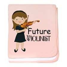 Future Violinist Music baby blanket