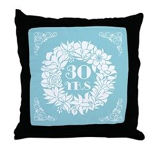 30th Anniversary Wreath Throw Pillow