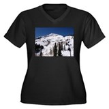 I love mountains Women's Plus Size V-Neck Dark T-S
