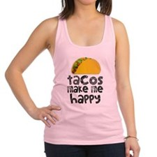 Tacos Make Me Happy Racerback Tank Top