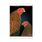 Chantecler Rooster and Hen Mini Poster Print