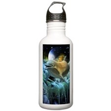 Dolphin in the universe Water Bottle