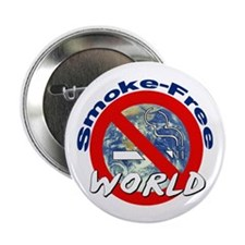 "2.25"" Button (100 pack): Smoke-Free World"