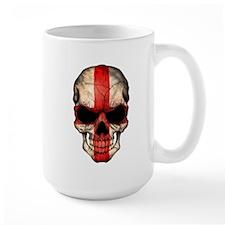 English Flag Skull Mugs