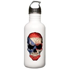 Puerto Rico Flag Skull Stainless Water Bottle 1.0l