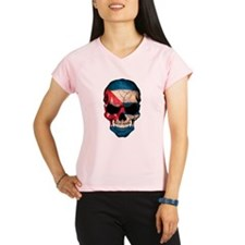 Cuban Flag Skull Performance Dry T-Shirt