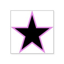 Pink Trim Black Star Sticker