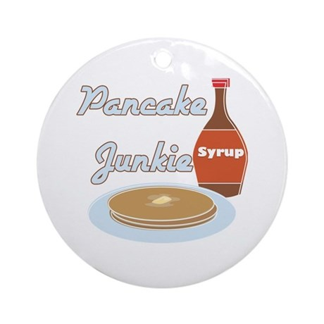Pancake Junkie Ornament (Round)