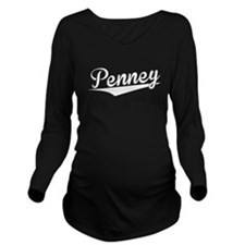Penney, Retro, Long Sleeve Maternity T-Shirt