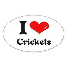 I love crickets Oval Stickers