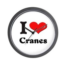 I love cranes  Wall Clock