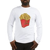 French Fry Junkie Long Sleeve T-Shirt