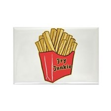 French Fry Junkie Rectangle Magnet (100 pack)