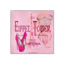 paris eiffel tower pink corset Sticker