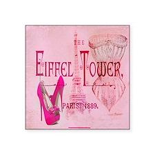 paris eiffel tower pink corset Sticker