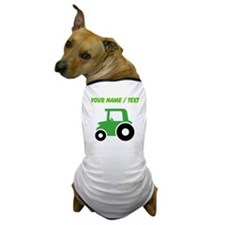Custom Green Tractor Dog T-Shirt