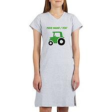 Custom Green Tractor Women's Nightshirt