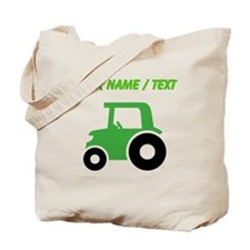 Custom Green Tractor Tote Bag